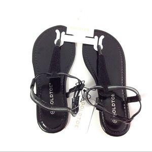 Goldtoe Women's Size 6 Sandals Black Summer